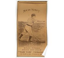 Benjamin K Edwards Collection Mickey Welch New York Giants baseball card portrait Poster