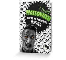 Halloween Villain League [Teen Wolf's Jackson the Kanima] Greeting Card