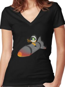 How I Learned to Stop Worrying and Love the Space Program. Women's Fitted V-Neck T-Shirt