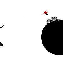 Banksy girl bomb by alphaville