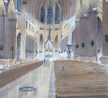 St.Patrick's Cathedral, New York by HurstPainters