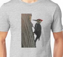 Pileated woodpecker chipping away Unisex T-Shirt
