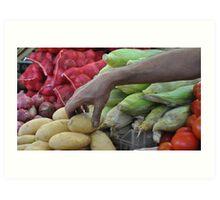 Vegetable Souq  Art Print