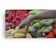 Vegetable Souq  Canvas Print
