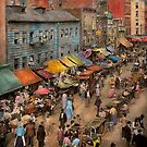 City - NY - Jewish market on the East Side 1890 by Mike  Savad