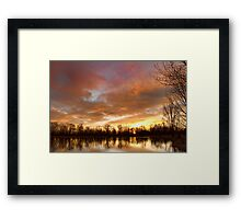 Crane Hollow Sunrise Framed Print
