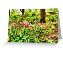 Dreamy Tulip Garden - Impressions Of Spring Greeting Card
