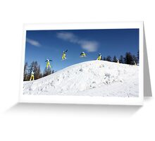 Snowboarding Italy Greeting Card