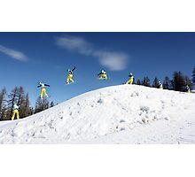 Snowboarding Italy Photographic Print
