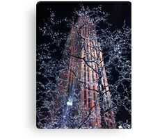 New York Empire State Building in Christmas Canvas Print