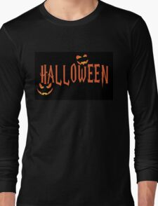 Halloween Orange Long Sleeve T-Shirt