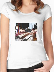 train Women's Fitted Scoop T-Shirt