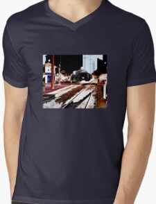 train Mens V-Neck T-Shirt