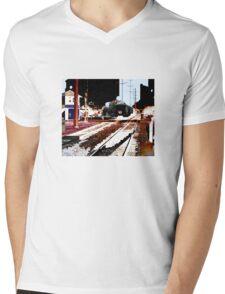 train Mens V-Neck T-Shirt