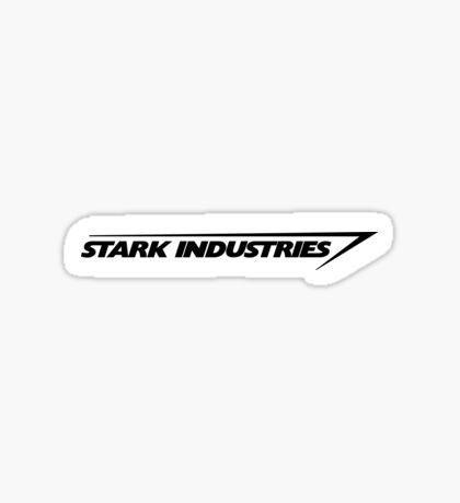Stark Indus. Black Sticker