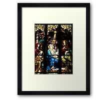 Stain Glass Mary and Baby Jesus Framed Print