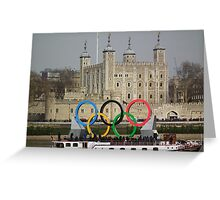 Olympic rings at the Tower of London Greeting Card