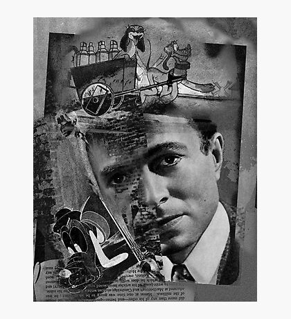 James Mason & Pluto. Photographic Print
