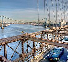Washington Bridge from Brooklyn Bridge by JPassmore