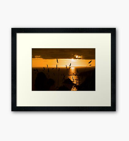wild atlantic way sunset  Framed Print