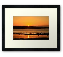 A Skerries Sunset Framed Print