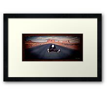 Electra Glide In Blue Framed Print