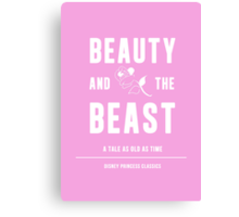 Disney Princesses: Beauty and the Beast Minimalist Canvas Print
