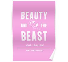 Disney Princesses: Beauty and the Beast Minimalist Poster