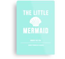 Disney Princesses: The Little Mermaid Minimalist Metal Print