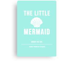 Disney Princesses: The Little Mermaid Minimalist Canvas Print