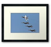 Four F 18  Jets in Formation Framed Print