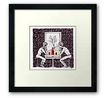 Fall Date pen ink drawing Framed Print