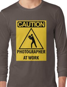 Photographer At Work Long Sleeve T-Shirt