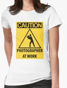 Photographer At Work Womens Fitted T-Shirt