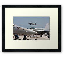 F 18 Super Hornet Preparing to Land Framed Print