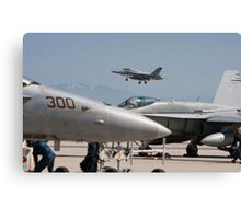 F 18 Super Hornet Preparing to Land Canvas Print