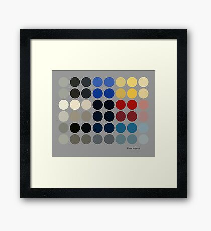 Ellsworth - Abstract Color Dots Framed Print