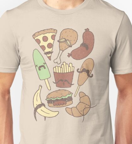 FOOD...WITH MUSTACHES, YAY!!! Unisex T-Shirt