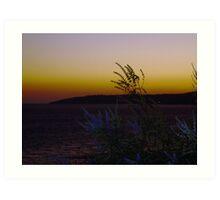 Sunset over Kefalonia Art Print