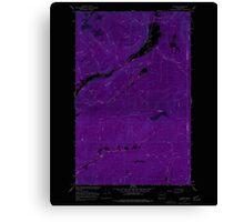 USGS Topo Map Washington State WA Aladdin 239771 1966 24000 Inverted Canvas Print