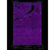 USGS Topo Map Washington State WA Aladdin 239771 1966 24000 Inverted Photographic Print