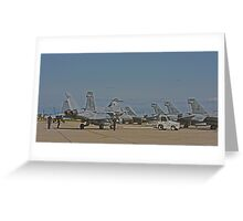 F 18 Jets on the Ramp Greeting Card