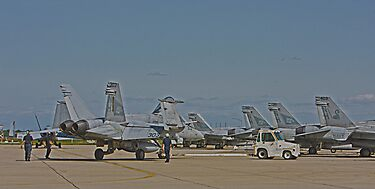 F 18 Jets on the Ramp by Buckwhite
