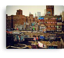 Urban Layer Cake - Chinatown Rooftop Graffiti - NYC Canvas Print