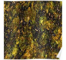 Green and Yellow Marble Poster