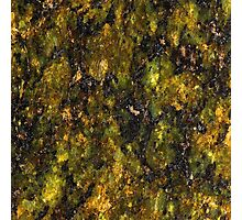 Green and Yellow Marble Photographic Print