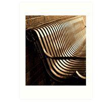 City Bench, Sepia Tone Art Print