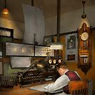Steampunk - RR - The train dispatcher by Mike  Savad