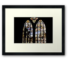 Stained Glass Window in Amsterdam Framed Print
