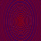 Hypnotic Swirls (Blue/Red) by Anglofile